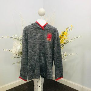 Gray Under Armour boys pullover hoodie top